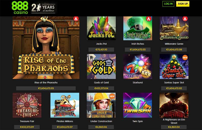888 Casino Slots Lobby