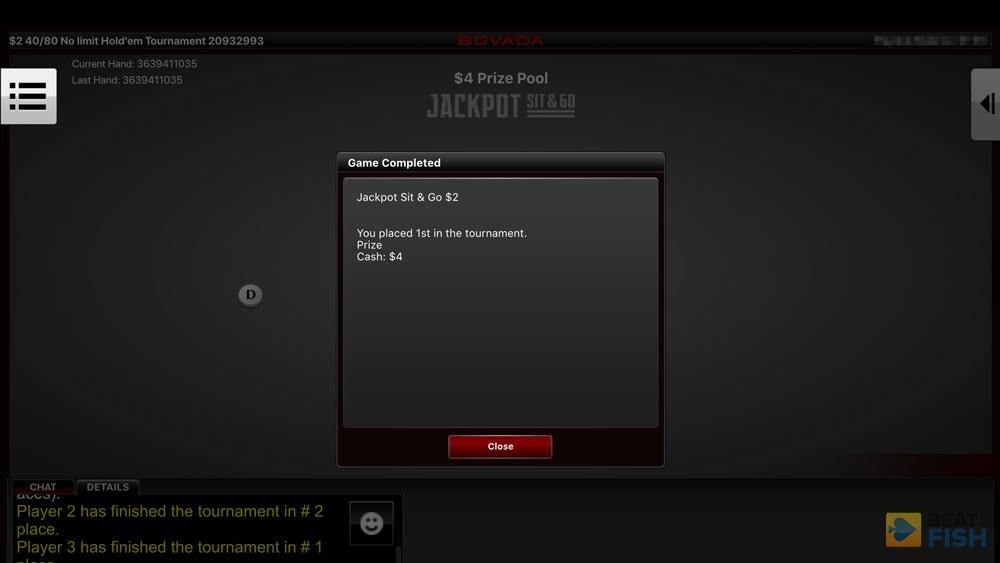 Bovada Poker Jackpot Sit & Go