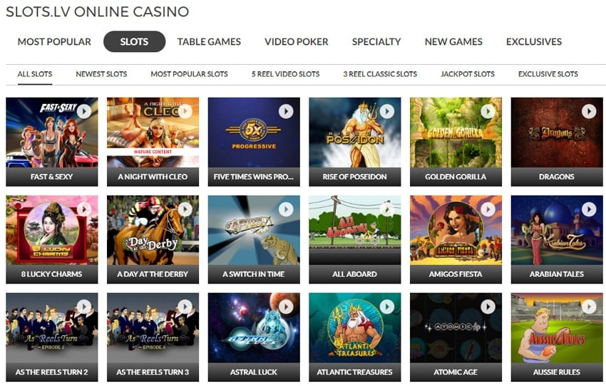 Slots LV is powered by Realtime Gaming software (RTG).With more than twelve years operating as a trusted casino for playing online slots for real money, SlotsLV Casino is a must play for all true slot machine enthusiasts and recreational online casino players.