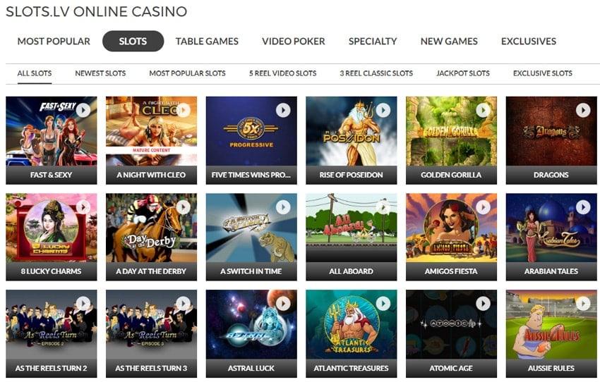 Slots.lv Casino Slots Selection