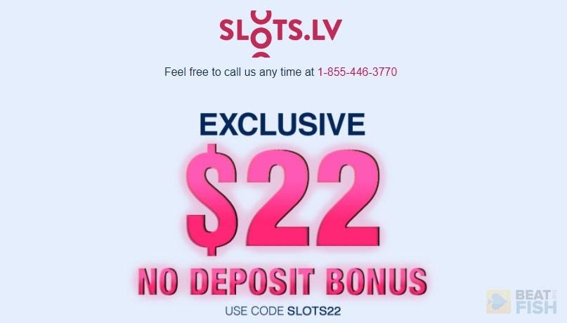 Slots.lv No Deposit Bonus