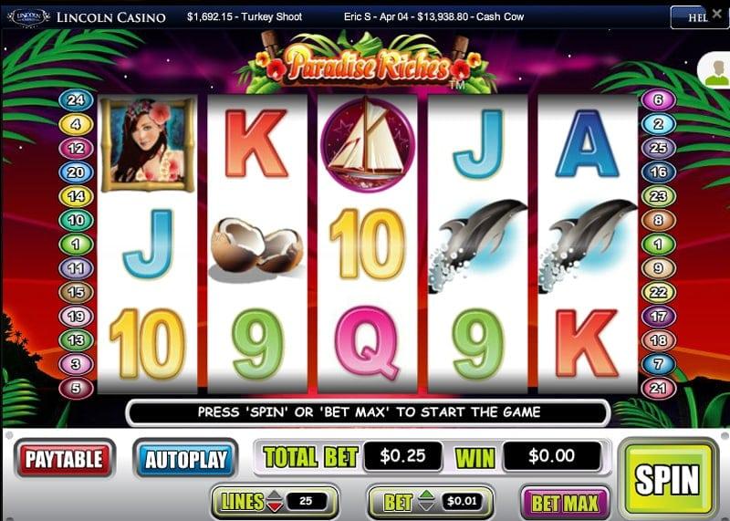 Video Slot at Lincoln Casino