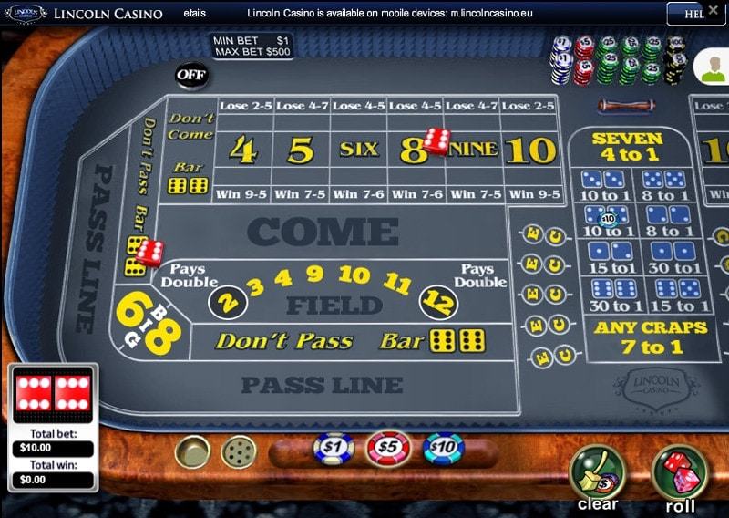 Lincoln Casino Craps