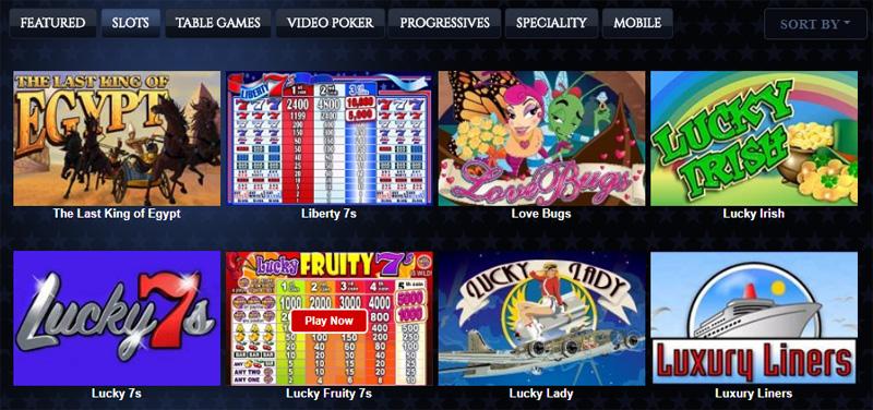 Lincoln Casino Mobile Lobby