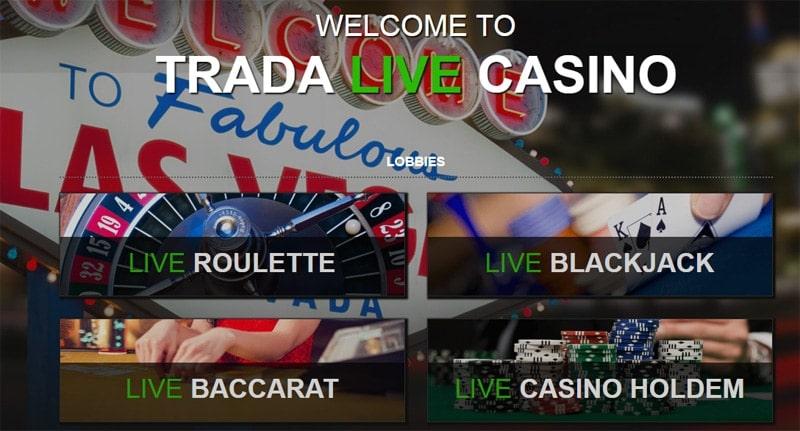 Trada Casino Live Dealers