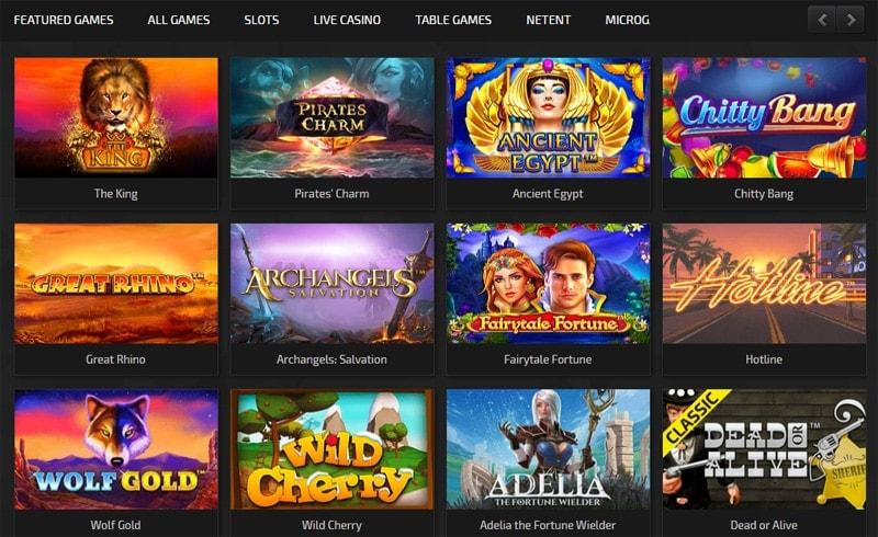 Trada Casino Game Lobby