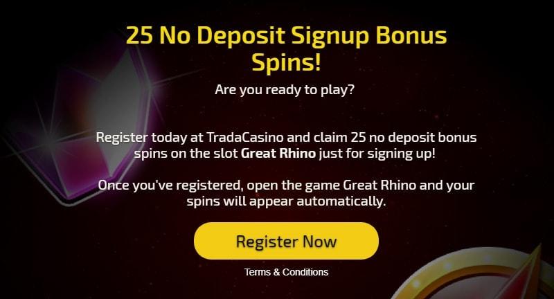 Free Spins at Trada Casino