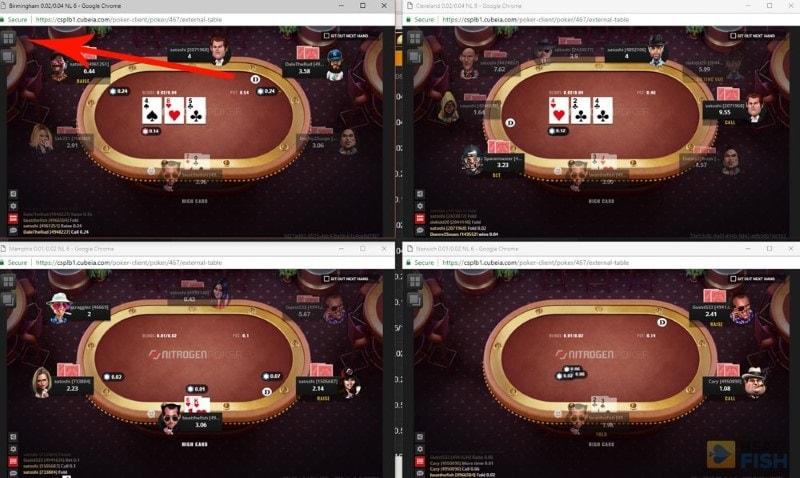 Nitrogen Poker Multiple Tables