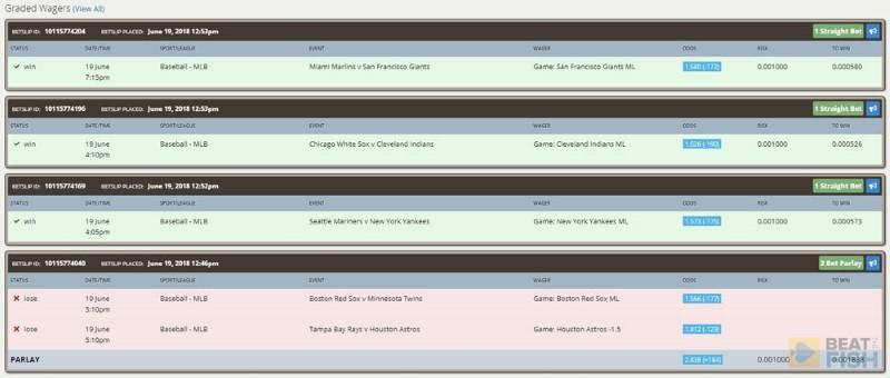 Nitrogen Sports Bet History