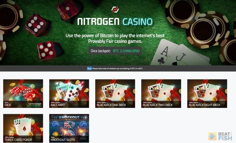 Nitrogen Sports Casino Lobby