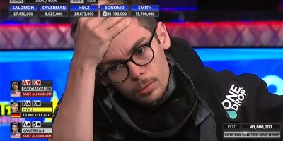 A Curious Case of an Exposed Ace in the 2018 WSOP Big One for One Drop