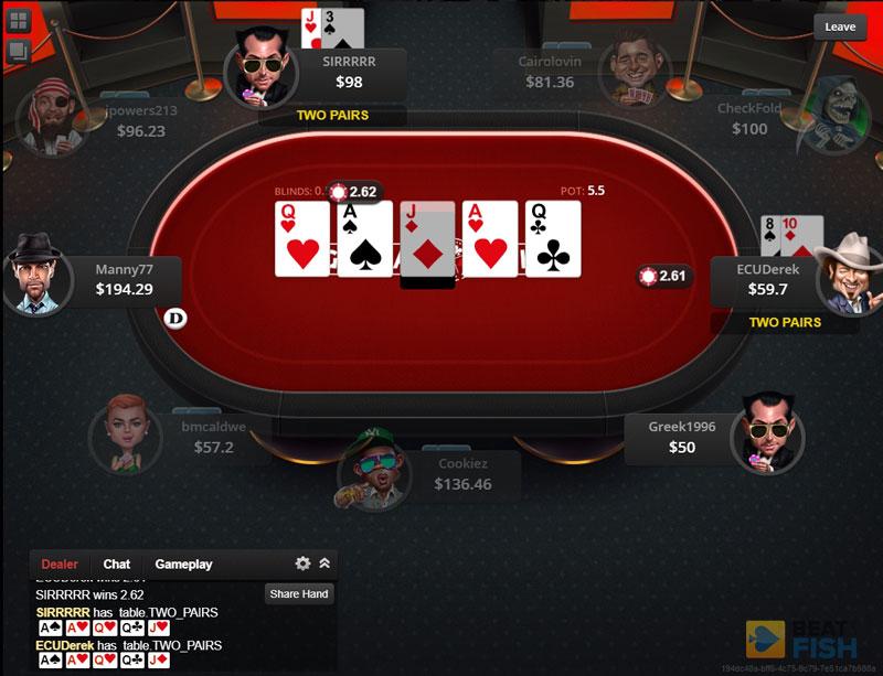 No-Limit Hold'em at Global Poker