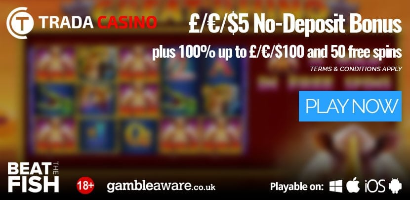 Trada Casino Review header