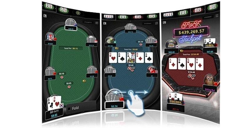Breakout Poker mobile app