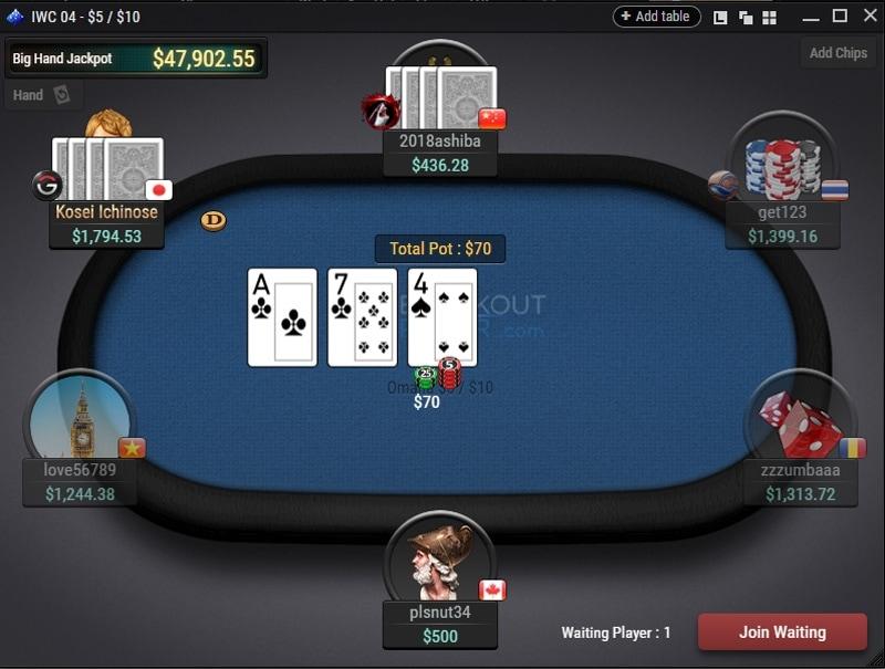 Breakout Poker Omaha table