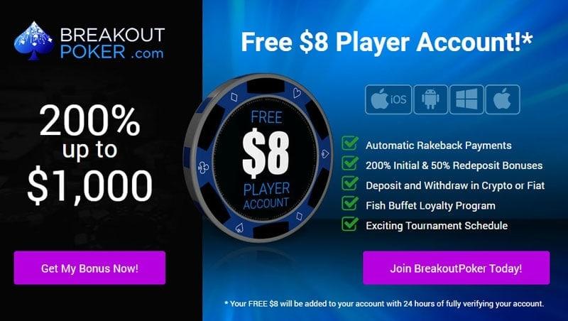 Breakout Poker No Deposit Bonus