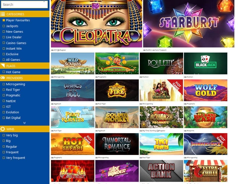 Cloud Video Slot Variety