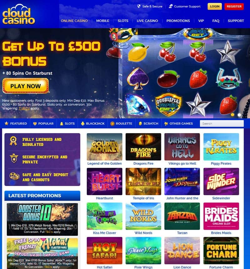 Cloud Casino Bonus