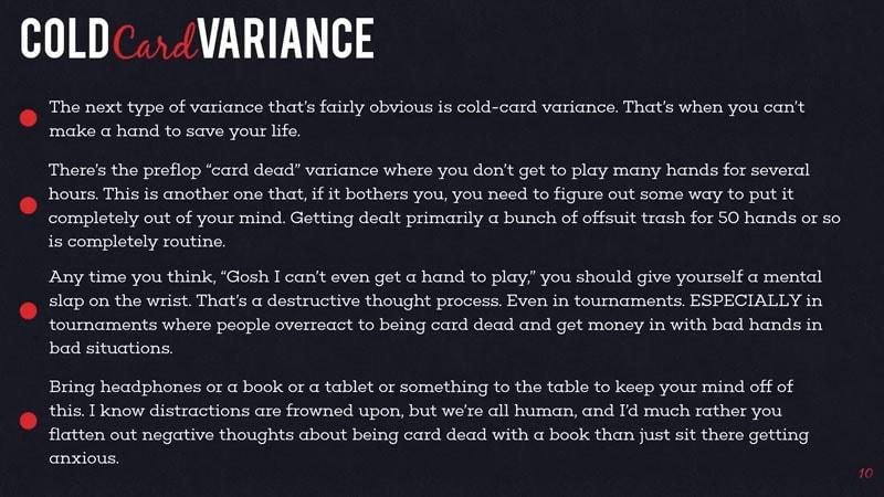 Red Chip Poker variance