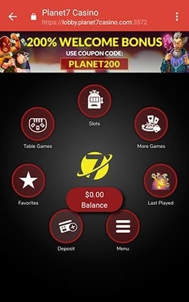 Planet 7 Lobby for Smartphones and Tablets