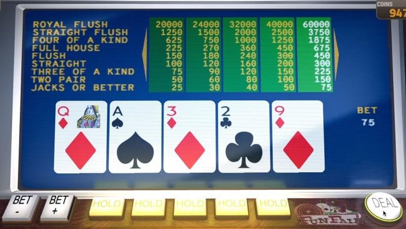 Video Poker on FunFair Casino