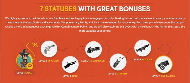 Guns Bet Casino Promotion Levels