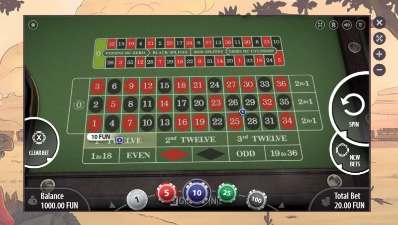 Gunsbet Casino Table Games