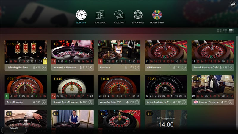 Live dealer roulette stakes