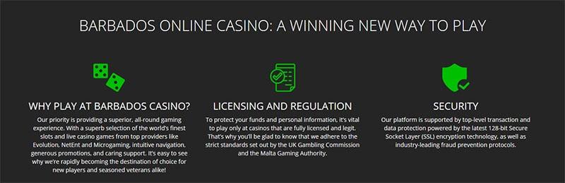 Barbados Casino benefits