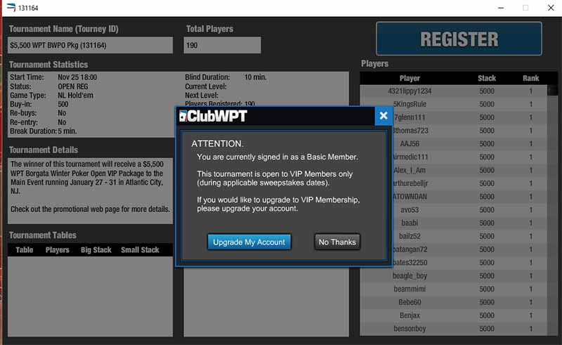 ClubWPT Tournament