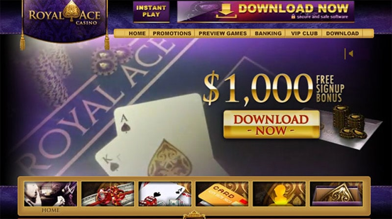 Royal Ace Casino website