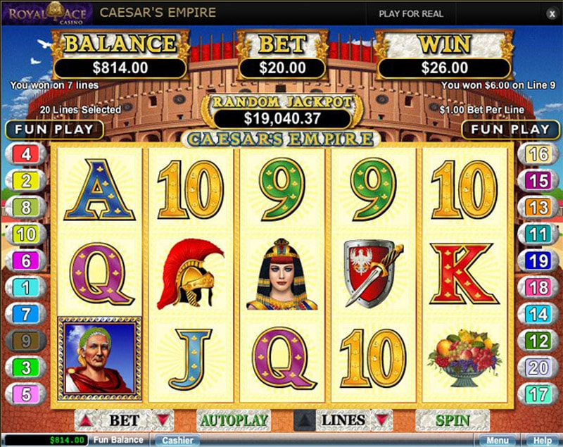 Royal Ace Casino Slot Variety
