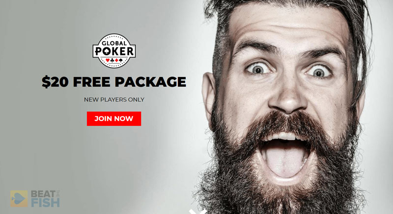 Global Poker No-Deposit Bonus Page