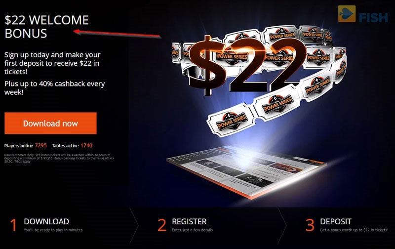 Party Poker Deposit Bonus Page