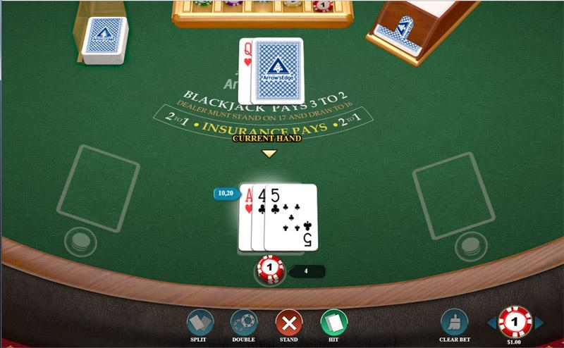 Blackjack Table at Drake Casino