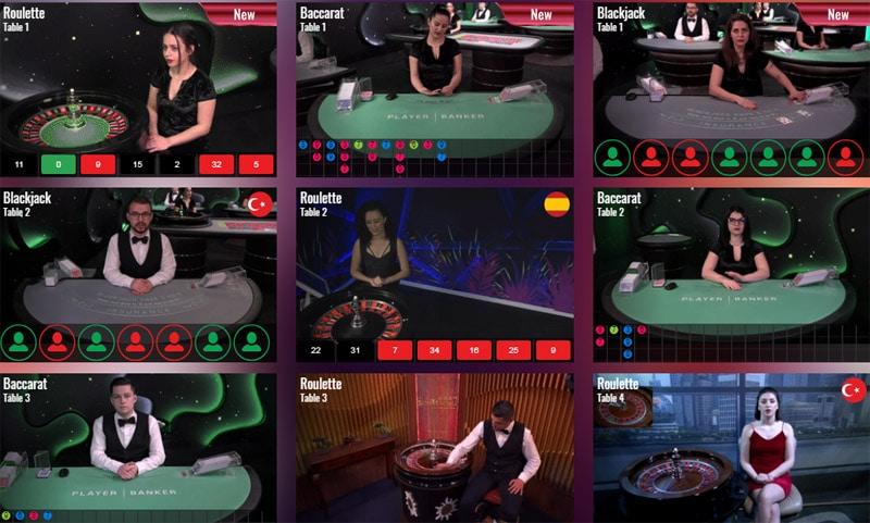 Drake Casino Live Casino Section
