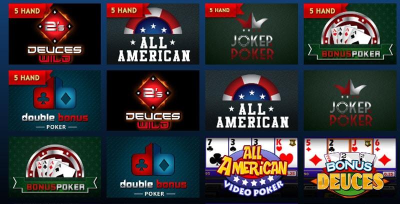 Drake Casino Video Poker Selection