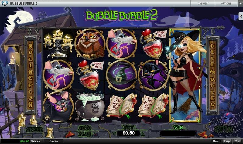 The Bubble Bubble 2 Slot at Silver Oak Casino