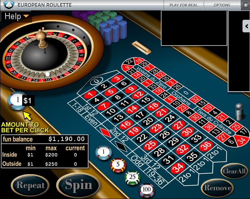 European Roulette at Silver Oak Casino