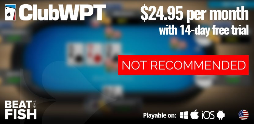 ClubWPT Is Not Recommended