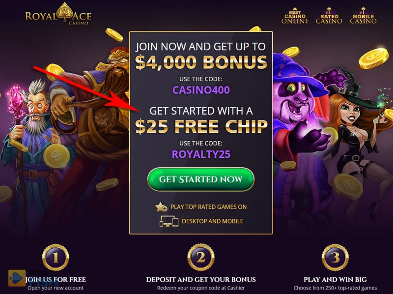 Royal Ace Casino No-Deposit Bonus