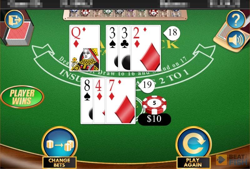 Blackjack at 5Dimes Casino