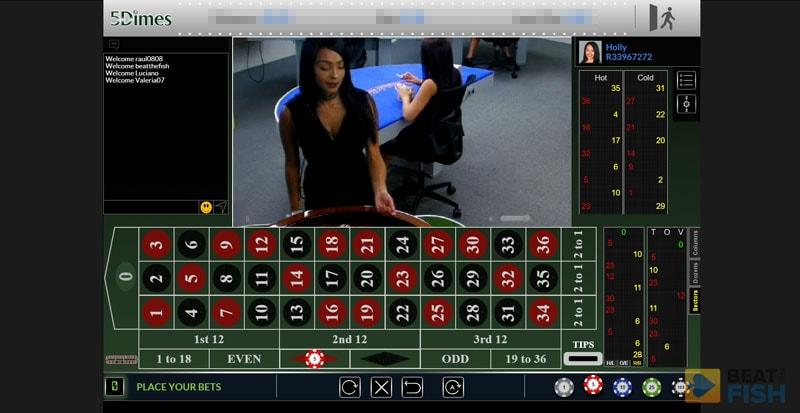 5Dimes Casino Live Roulette