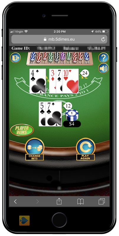 5Dimes Casino on Mobile