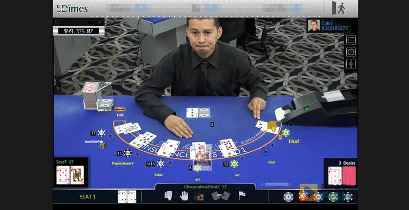 Live Blackjack at 5Dimes