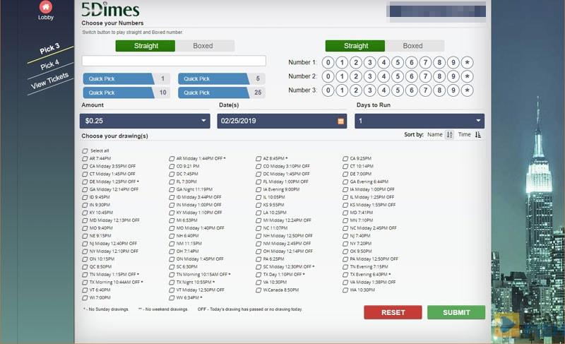 5Dimes Lottery