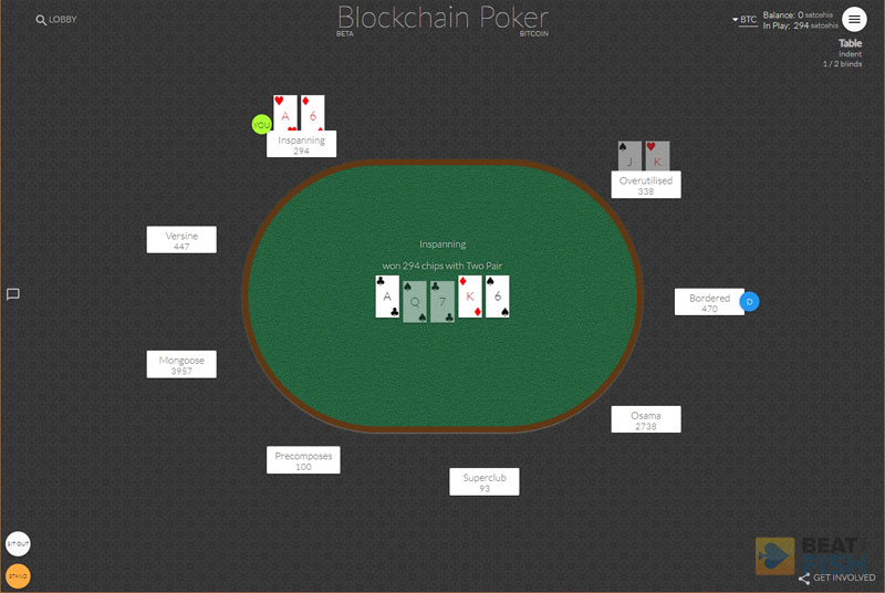 Blockchain.poker for free Bitcoin poker games