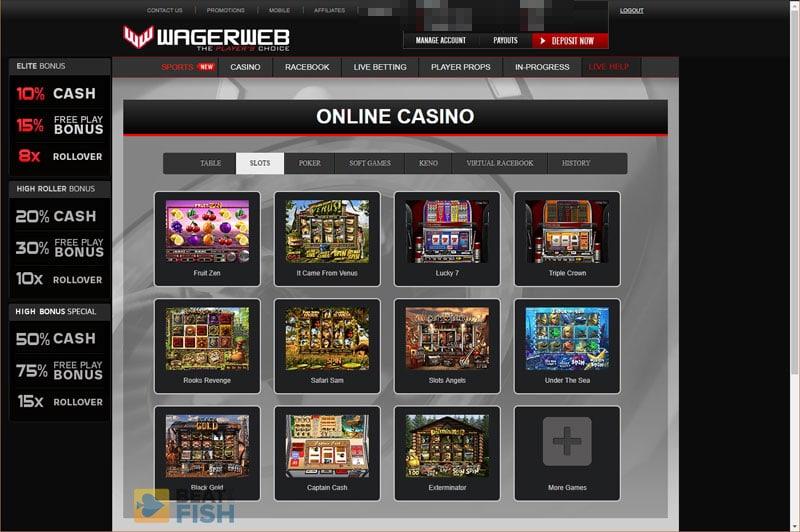 Wagerweb Casino Slots