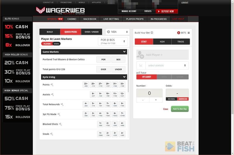 Wagerweb NBA Props