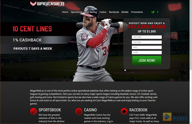 Wagerweb sportsbook website